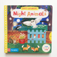 First Explorers: Night Animals  (board book)
